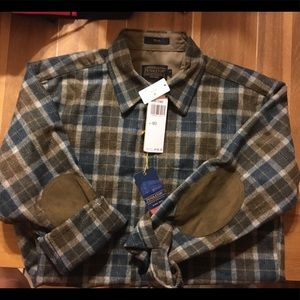 NWT Pendleton trail wool button down shirt